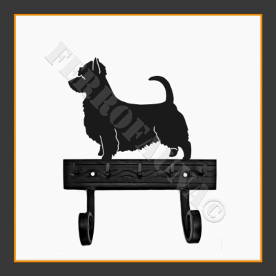 Australian Silky Terrier Key and Leash Holder