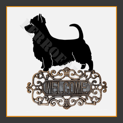 Australian Silky Terrier Welcome Sign