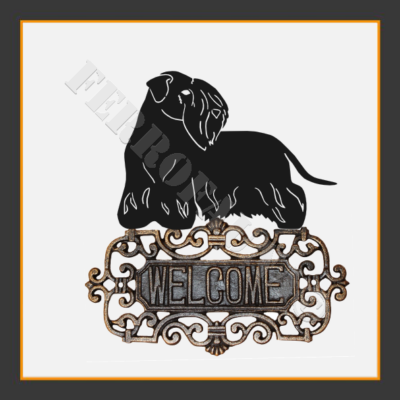 Cesky Terrier Welcome Sign