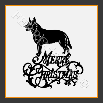 Australian Cattle Dog Christmas Sign