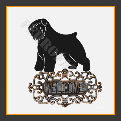 Bouvier des Flandres Welcome Sign