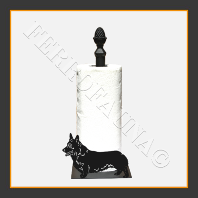 Corgi Pembroke Kitchen Towel Holder