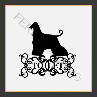 Afghan Hound  V.1 Toilet  Sign