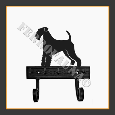 Airedale Terrier Key and Leash Holder
