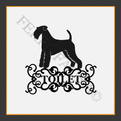 Airedale Terrier Toilet  Sign