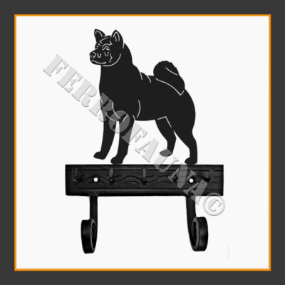 American Akita Key and Leash Holder