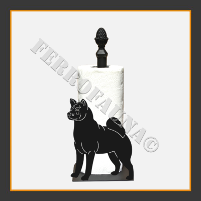 American Akita Kitchen Towel Holder