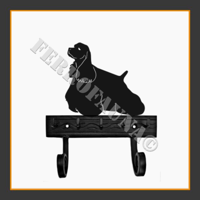 American Cocker Spaniel Key and Leash Holder