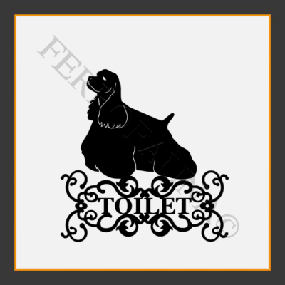American Cocker Spaniel Toilet  Sign