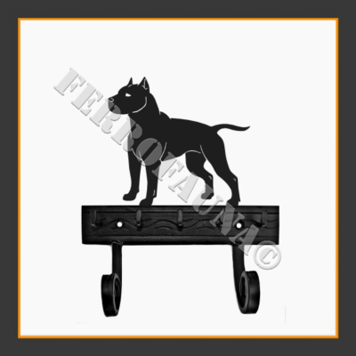 American Staffordshire Terrier Key and Leash Holder