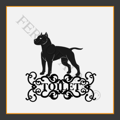 American Staffordshire Terrier Toilet  Sign