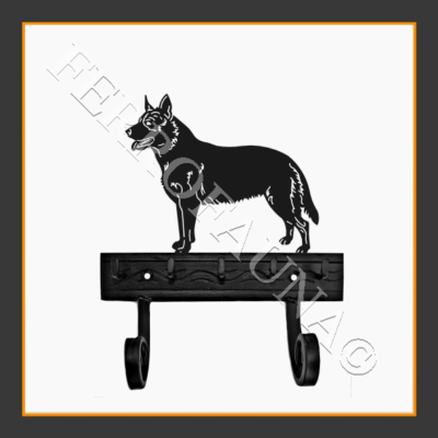 Australian Cattle Dog Key and Leash Holder