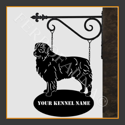 Australian Shepherd Sign With Kennel Name