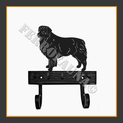 Australian Shepherd Key and Leash Holder