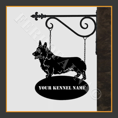 Corgi  Pembroke Sign With Kennel Name
