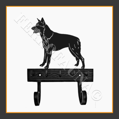 Czechoslovakian Wolfdog Key and Leash Holder