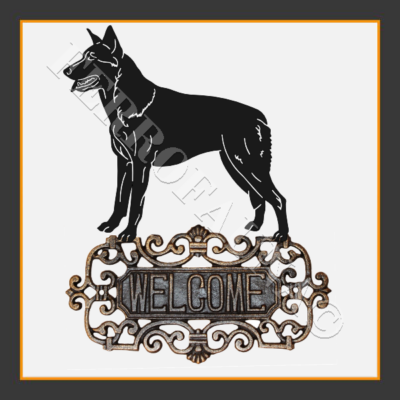 Czechoslovakian Wolfdog Welcome Sign