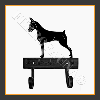 Pinscher Key and Leash Holder