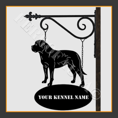 American Bulldog Sign With Kennel Name