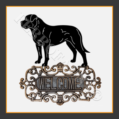 American Bulldog Welcome Sign