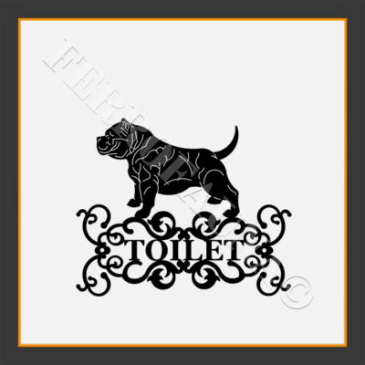 American Bully Toilet  Sign