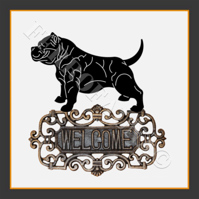 American Bully Welcome Sign