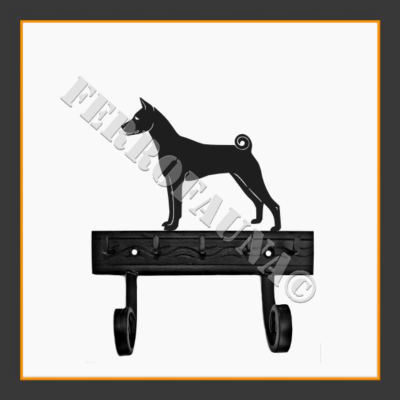 Basenji Key and Leash Holder