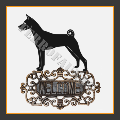 Basenji Welcome Sign