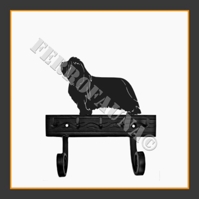 Bearded Collie Key and Leash Holder