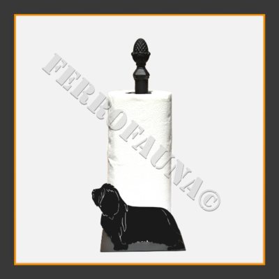Bearded Collie Kitchen Towel Holder
