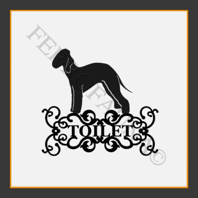 Bedlington Terrier Toilet  Sign
