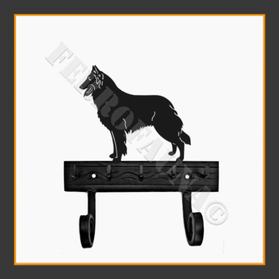 Belgian Shepherd Key and Leash Holder