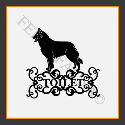Belgian Shepherd Toilet  Sign