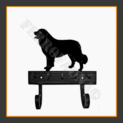 Bernese Mountain Dog Key and Leash Holder