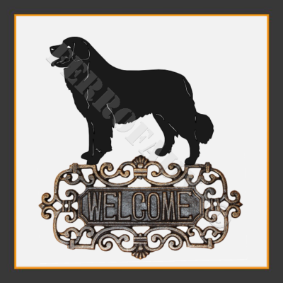 Bernese Mountain Welcome Sign