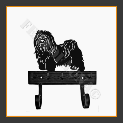Bichon Havanese Key and Leash Holder