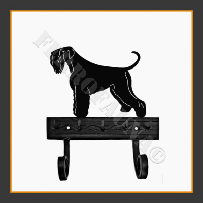 Black Russian Terrier Key and Leash Holder