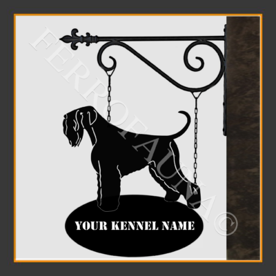Black Russian Terrier Sign With Kennel Name