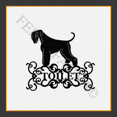 Black Russian Terrier Toilet  Sign