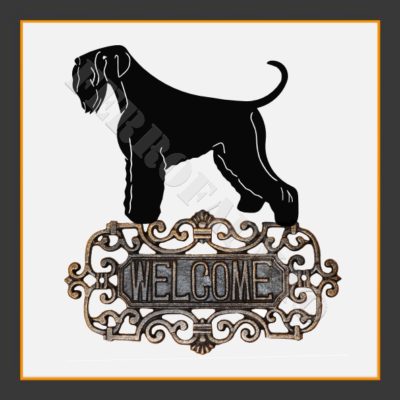Black Russian Terrier Welcome Sign
