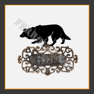 Border Collie V.1 Welcome Sign