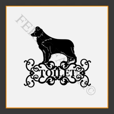 Border Collie V.2 Toilet  Sign