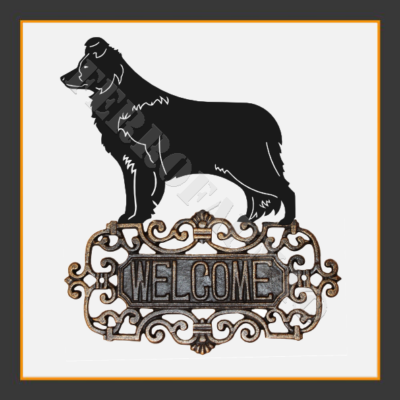 Border Collie V.2 Welcome Sign