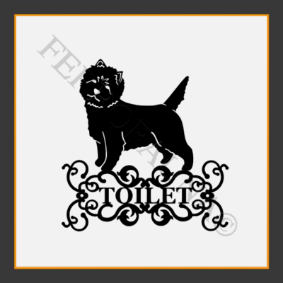 Cairn Terrier Toilet  Sign