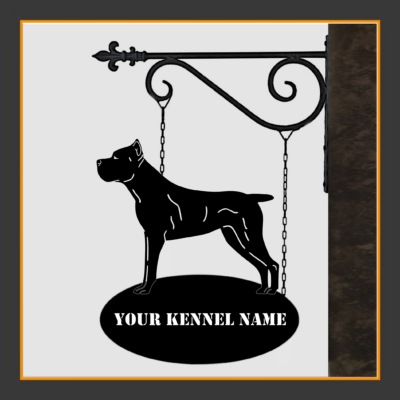 Cane Corso V.1 Sign With Kennel Name