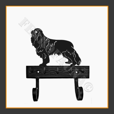 Cavalier King Charles Spaniel Key and Leash Holder