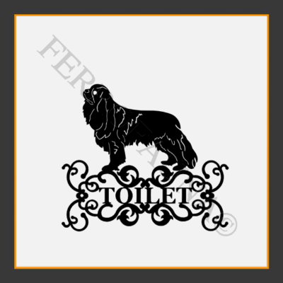Cavalier King Charles Spaniel Toilet  Sign