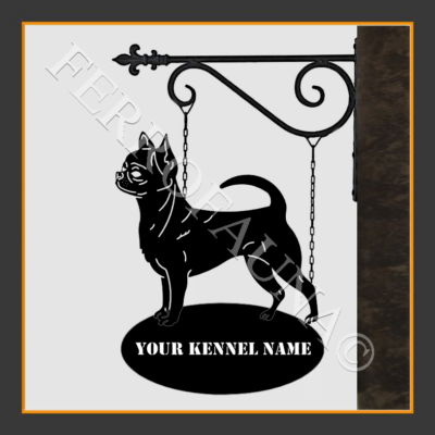 Chihuahua Smooth Sign With Kennel Name