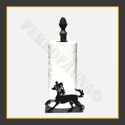 Chinese Crested Dog Kitchen Towel Holder