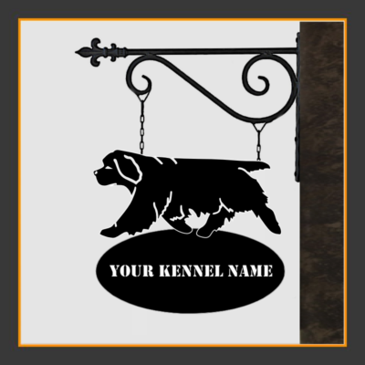 Clumber Spaniel Sign With Kennel Name